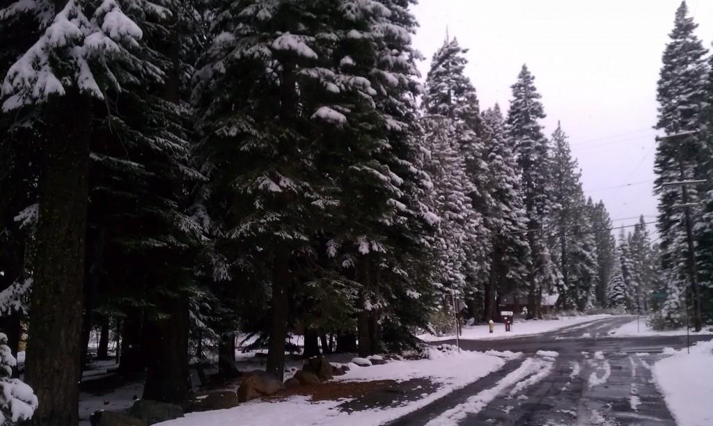 Lake Tahoe First Snow